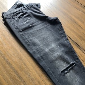 Mossimo Mid-Rise Skinny Black Denim Jeans Size 12